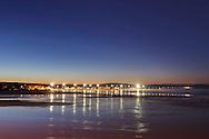 Coastal town Essaouira before sunrise, Morocco.