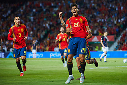 September 11, 2018 - Elche, Alicante, Spain - Marco Asensio of Spain celebrates after scoring during the UEFA Nations League football match between Spain and Croatia at Martinez Valero Stadium in Elche on September 11, 2018  (Credit Image: © Sergio Lopez/NurPhoto/ZUMA Press)