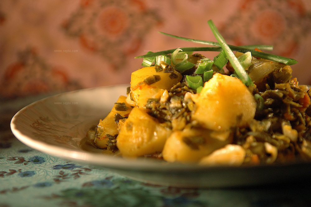 Aloo Pyaz - Potato and green onions ( Recipe available upon request )