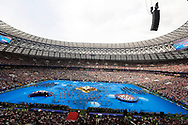 General view of the show during the closing ceremony before the 2018 FIFA World Cup Russia, final football match between France and Croatia on July 15, 2018 at Luzhniki Stadium in Moscow, Russia - Photo Tarso Sarraf / FramePhoto / ProSportsImages / DPPI