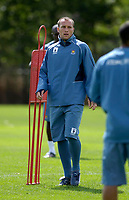 Photo: Daniel Hambury.<br /> West Ham United Media Day. 10/08/2006.<br /> England hopeful Dean Ashton during training.