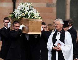 © Licensed to London News Pictures.2/3/2012. Alvechurch, Worcestershire. The funeral of teacher Peter Rippington took place earlier today in the village where he taught. The 59-year-old died of multiple injuries at the scene of the crash on the A26 in France on February 19. Photo credit : Dave Warren/LNP