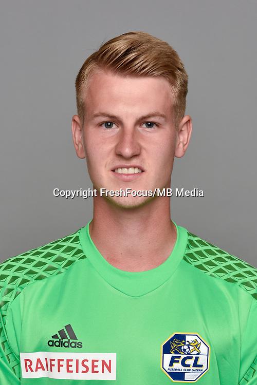 15.07.2016; Luzern; Fussball - FC Luzern;<br />Torhueter Simon Enzler (Luzern)<br />(Martin Meienberger/freshfocus)