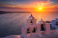 White church in Santorini, Greece