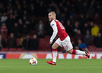 Football - UEFA 2017 / 2018 Europa League - Group H: Arsenal vs. FC BATE Borisov<br /> <br /> Jack Wilshere (Arsenal FC) with a powerful run from the midfield gets the crowd on their feet at The Emirates.<br /> <br /> COLORSPORT/DANIEL BEARHAM