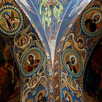 Europe, Russia, St. Petersburg. Church of the Spilled Blood Mosaics.
