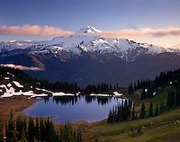 Glacier Peak and Image Lake from Miners Ridge, Glacier Peak Wilderness Washington USA