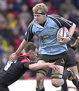 Watford, GREAT BRITAIN, 22nd Feburary 2004, Vicarage Road, ENGLAND. [Mandatory Credit: Photo  Peter Spurrier/Intersport Images],<br /> 22/02/2004  -  Zurich Premiership, Saracens v Newcastle Falcons<br /> Falcon's Craig  Hamilton