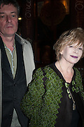 SASHA GEBLER; EDNA O'BRIEN, Press night performance of 'Once' at the Phoenix Theatre, Charing Cross Rd, -after party at Waxy O'Connor's, Rupert St. London. 9 april 2013.