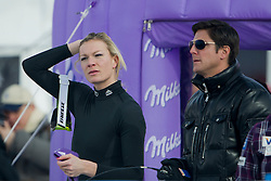 29.01.2012, Corviglia, St. Moritz, SUI, FIS Weltcup Ski Alpin, St. Moritz, Damen, Super-G, Superkombination, im Bild Maria Hoefl-Riesch im Gespraech mit ihrem Mann Marcus // during Super-G, Supercombination of the FIS Ski Alpine Worldcup, Women at the Corviglia Course in St. Moritz, Switzerland on 2012/01/29. EXPA Pictures © 2012, PhotoCredit: EXPA/ Freshfocus/ Andy Mueller..***** ATTENTION - for AUT, CRO and SLO only *****