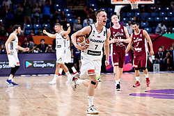 Klemen Prepelic of Slovenia celebrates after winning during basketball match between National Teams of Slovenia and Latvia at Day 13 in Round of 16 of the FIBA EuroBasket 2017 at Sinan Erdem Dome in Istanbul, Turkey on September 12, 2017. Photo by Vid Ponikvar / Sportida