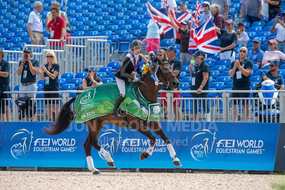 Rosalind CANTER (GBR) individual and team gold medalist- Eventing Jumping - FEI World Equestrian Games™ Tryon 2018 - Tryon, North Carolina, USA - 17 September 2018