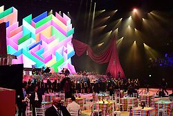 The Lewisham and Greenwich NHS Choir perform with Pink and Rag'n'Bone Man during the Brit Awards 2021 at the O2 Arena, London. Picture date: Tuesday May 11, 2021.