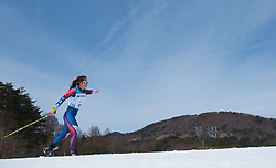 March 17, 2018 - Pyeongchang, South Korea - Grace Miller of the US on her first lap of the 7.5km Classic Standing Cross Country event Saturday, March 17, 2018 at the Alpensia Biathlon Center at the Pyeongchang Winter Paralympic Games. Photo by Mark Reis (Credit Image: © Mark Reis via ZUMA Wire)