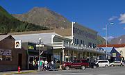 Alaska. Seward downtown shops, bars and restaurants.