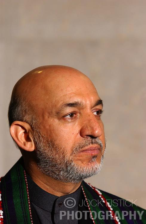 BRUSSELS, BELGIUM - MAY-12-2005 - Hamid Karzai - President of Afghanistan  (PHOTO © JOCK FISTICK)<br />