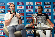 Sergey Shubenkov (ANA) and Pascal Martinet-Lagarde (FRA) during press conference of Meeting de Paris 2018, Diamond League, at Hotel Marriott, in Paris, France, on June 29, 2018 - Photo Jean-Marie Hervio / KMSP / ProSportsImages / DPPI