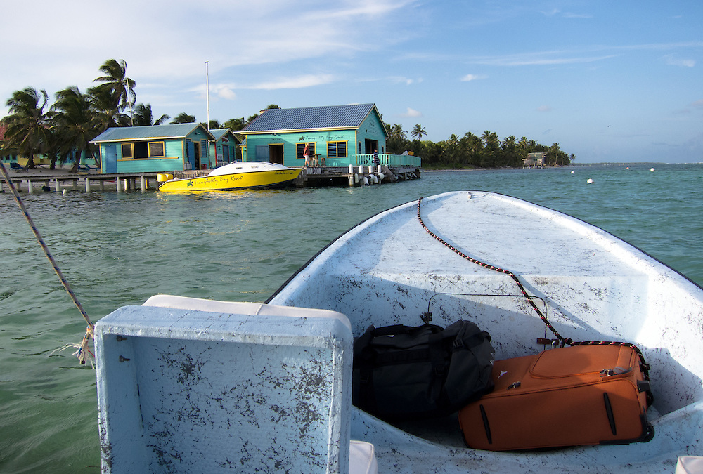 Ambergris Caye, Belize 8/31/2012.Arriving by boat at Tranquility Bay, 30 minutes north of San Pedro in the Bacalar Chico national park..Alex Jones / www.alexjonesphoto.com
