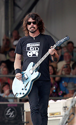 05 May 2012. New Orleans, Louisiana,  USA. .New Orleans Jazz and Heritage Festival. .Dave Grohl, frontman for the Foo Fighters takes to the Acura stage..Photo; Charlie Varley.