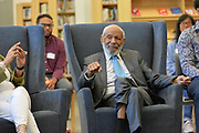 6/23/21  Civil Rights maverick, author  and Mississippi's Native son, James Meredith takes part in a roundtable discussion with students from the The Breck School. Students on grades 9-12 were able to ask Mr. Meredith questions regarding his thoughts on racism and how to be effective future leaders. Meredith is in Minnesota for More Than A Moment, a series of roundtable discussions with students, educators, lawyers, and community leaders. Minnijean Brown Trickey one of the Little Rock Nine was also part of the roundtable discussions, she was connected via the internet from Ontario Canada. Meredith discussed methods and ways to combat racism in America and emphasized the importance of speaking the truth and working together to make change for the better in our communities. Photo © Suzi Altman