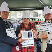 Gurkha Two men one women begin a hunger strike to appeal to the British government to match the pens