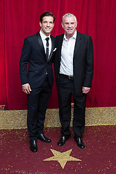 © Licensed to London News Pictures . 16/05/2015 .  The Palace Hotel , Manchester , UK . Danny Mac and Jimmy McKenna . The red carpet at the 2015 British Soap Awards , The Palace Hotel , Oxford Road , Manchester . Photo credit : Joel Goodman/LNP