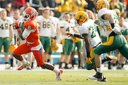 Sam Houston State Bearkats wide receiver Richard Sincere (6) runs the ball down the field against North Dakota State defense during the FCS title game at FC Dallas Stadium in Frisco, Texas, on January 5, 2013.  (Stan Olszewski/The Dallas Morning News)