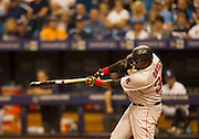 MLB: SEP 12 Red Sox at Rays. David Ortiz of the Red Sox, Hits his 500th Home Run in the 5th Inning.