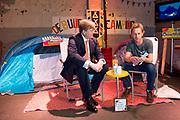 Koning Willem Alexande op de Nationale Vrijwilligersdag, de jubileumbijeenkomst van het Oranje Fonds in de Fabrique in Maarssen. Tijdens de bijeenkomst 'Morgen is Vandaag' staan, naast een terugblik op afgelopen 15 jaar, de ontwikkelingen van het Oranje Fonds voor de komende jaren centraal.<br /> <br /> King Willem Alexande on the National Volunteer Day, the jubilee meeting of the Oranje Fonds in the Fabrique in Maarssen. During the 'Tomorrow is Today' meeting, in addition to a review of the past 15 years, the developments of the Oranje Fonds will be central for the coming years.<br /> <br /> Op de foto / On the photo:  Koning Willem-Alexander bij een van de initiatieven tijdens de jubileumbijeenkomst van het Oranje Fonds.<br /> <br /> King Willem-Alexander at one of the initiatives during the jubilee meeting of the Oranje Fonds.