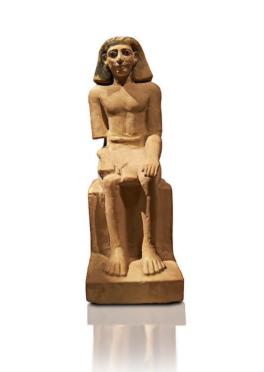 Seated figure of Sebeknihotep - Ancient Egypt - 1640-1600BC -INV AM12546 .<br /> <br /> If you prefer to buy from our ALAMY PHOTO LIBRARY  Collection visit : https://www.alamy.com/portfolio/paul-williams-funkystock/ancient-egyptian-art-artefacts.html  . Type -   Neues    - into the LOWER SEARCH WITHIN GALLERY box. Refine search by adding background colour, subject etc<br /> <br /> Visit our ANCIENT WORLD PHOTO COLLECTIONS for more photos to download or buy as wall art prints https://funkystock.photoshelter.com/gallery-collection/Ancient-World-Art-Antiquities-Historic-Sites-Pictures-Images-of/C00006u26yqSkDOM