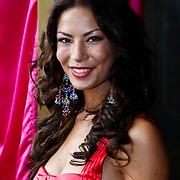 NLD/Amsterdam/20100801 - Inloop premiere musical Crazy Shopping, Miss Nederland 2009 Avalon-Chanel Weyzig