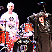 Exene Cervenka (right) and DJ Bonebrake of X perform on December 31, 2010  at the Moore Theatre in Seattle, WA