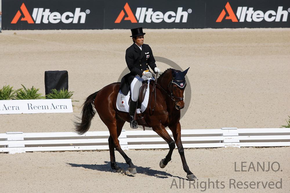 Yoshiaki Oiwa - Khanjer Black           <br /> Alltech FEI World Equestrian Games <br /> Lexington - Kentucky 2010<br /> © DigiShots