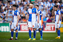 Ollie Clarke (ENG) and Matt Harrold (ENG) of Bristol Rovers looks dejected - Photo mandatory by-line: Rogan Thomson/JMP - 07966 386802 - 03/05/2014 - SPORT - FOOTBALL - Memorial Stadium, Bristol - Bristol Rovers v Mansfield Town - Sky Bet League Two. (Note: Mansfield are wearing a Rovers spare kit having forgotten their own).