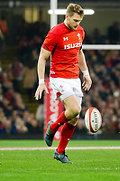 Rugby Union - 2017 Under Armour Series (Autumn Internationals) - Wales vs. South Africa<br /> <br /> Dan Biggar of Wales chips ahead to set up Wales' 2nd try , at The Principality Stadium (Millennium Stadium), Cardiff.<br /> <br /> COLORSPORT/WINSTON BYNORTH