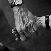 """Bob holds his wife's hand on the way to a doctor's appointment...ltqmb   """"hold on"""""""
