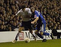 Photo: Olly Greenwood.<br />Tottenham Hotspur v Cardiff City. The FA Cup. 17/01/2007. Cardiff's Kevin McNaughton and Tottenham's Hosam Ghaly