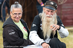 Brother Speed at Heather and Chris Callen's Wedding at the Broken Spoke Camground during the 75th Annual Sturgis Black Hills Motorcycle Rally.  SD, USA.  August 8, 2015.  Photography ©2015 Michael Lichter.