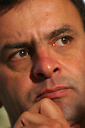 Belo Horizonte_MG, Brasil...Retrato do governador Aecio Neves em um encontro  com deputados e prefeitos aliados...Portrait of Aecio Neves governor in the meeting with deputies and mayor...Foto: LEO DRUMOND / NITRO