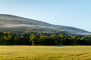Cornwall, New York - Mist along the side of Schunnemunk Mountain in a view from Clove Brook Farm on Sept. 5, 2018.