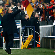 Galatasaray's head coach Fatih Terim during their UEFA Champions League Round of 16 Second Leg match FC Schalke 04 between Galatasaray at the Gelsenkirchen stadium, Germany, on March 12, 2013. Galatasaray won 3-2. Photo by TURKPIX