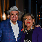 Sergio Mendes and wife Gracinha Leporache is a Brazilian music icon Arrivers at Screen International partnered with Lonsdon's leading independent 50star hotel The Athenaeum Hotel, Piccadilly, Mayfai to host their perCannes London party on 7th May 2019, UK.