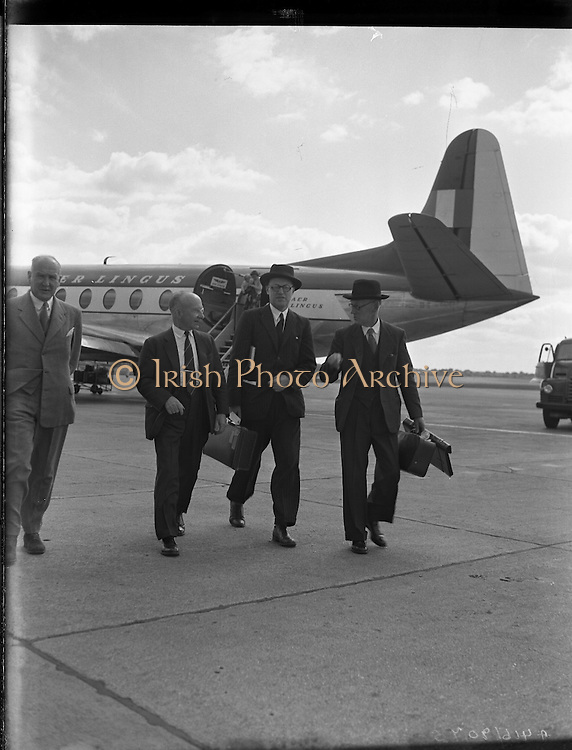 Arrival of Lord Packenham for Social Service Congress.24/06/1957