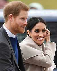 Prince Harry and Meghan Markle visit the Crown Liquor Saloon and meet the people of Belfast in Northern Ireland, UK, on the 23rd March 2018. Picture by James Whatling. 23 Mar 2018 Pictured: Prince Harry, Meghan Markle. Photo credit: James Whatling / MEGA TheMegaAgency.com +1 888 505 6342