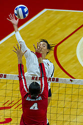 BLOOMINGTON, IL - August 13:  Kaitlyn Prondzinski during a college Women's volleyball Scrimmage of the Illinois State Redbirds on  August 13 2021 at Illinois State University in Normal, IL. (Photo by Alan Look)