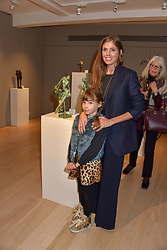 Georgiana Anstruther and daughter Florence Butler at a private view of recent work by Georgiana Anstruther held at the Sladmore Gallery, 32 Bruton Place, London England. 08 November 2018. <br /> <br /> ***For fees please contact us prior to publication***