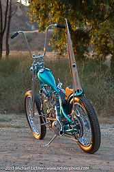 Martin Carlgren of Ringo Chop Shop in Gothenburg, Sweden built this 1947 SRM (Swedish Racing Motor) 1,000 cc chopper Born Free 9 Motorcycle Show at Oak Creek Park. Silverado, CA. USA. Sunday June 25, 2017. Photography ©2017 Michael Lichter.