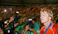 Photo: Glyn Thomas.<br />Germany v Portugal. Third Place Playoff, FIFA World Cup 2006. 08/07/2006.<br /> Germany's Oliver Kahn (R).