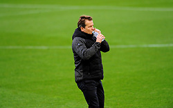 Forest Green Rovers manager Mark Cooper rehydrates- Mandatory by-line: Nizaam Jones/JMP - 14/11/2020 - FOOTBALL - innocent New Lawn Stadium - Nailsworth, England - Forest Green Rovers v Mansfield Town - Sky Bet League Two