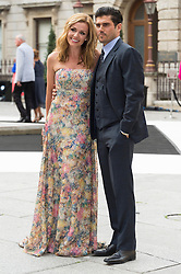 © Licensed to London News Pictures. 07/06/2016. KATHERINE JENKINS and husband ANDREW LEVITAS attend the Royal Academy 2016 Summer Exhibition Preview Party, London, UK. Photo credit: Ray Tang/LNP